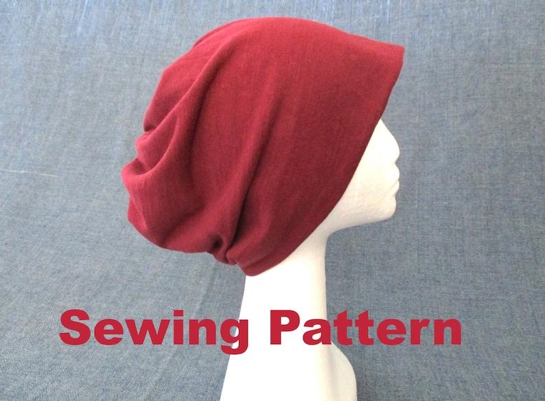 9fd958d0e3f Double layer slouchy beanie sewing pattern pdf jersey hat