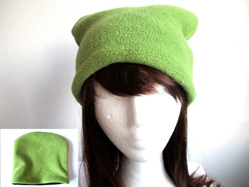 de9b3f4430a12 Reversible fleece beanie hat sewing pattern pdf double layer