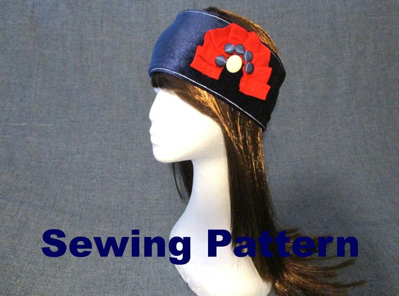 0ecf82decae Double layer velvet headband sewing pattern pdf jersey ear