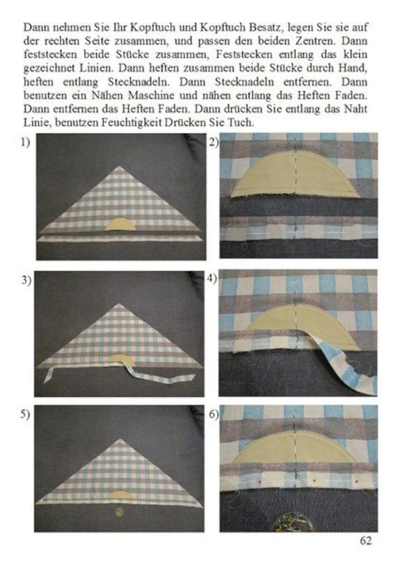 Schnittmuster PDF für Sommer Kopftuch / Bandana / Schal mit   Etsy