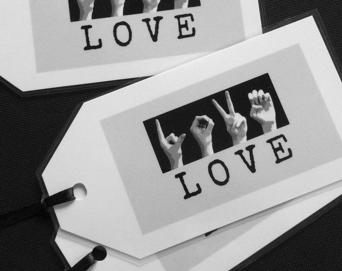 ASL LOVE Bookmark - American Sign Language - Inspirational Quotes - Buy 5 and Get One Free