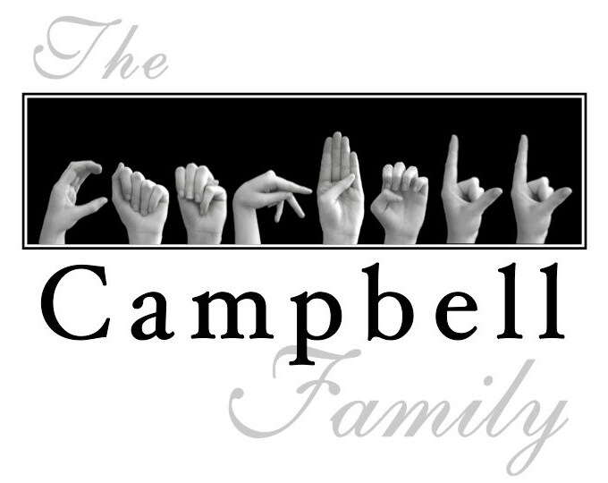 ASL Alphabet FAMILY Name Sign Language Personalized Print plus Digital Image for DIY Printing