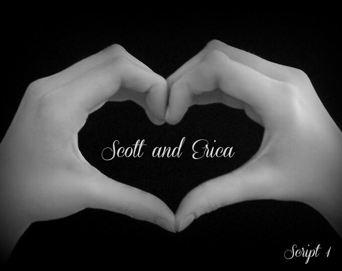 Wedding HEART HANDS Personalized 5x7 Photo Print - Custom Order for the Happy Couple - Ready to Frame