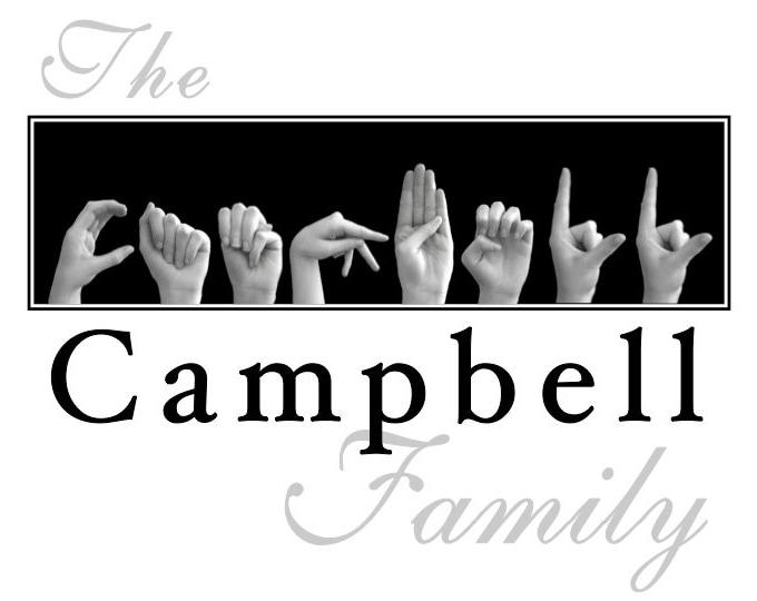 ASL Alphabet FAMILY Name Sign Language Personalized Print plus Digital Image for DIY Printing