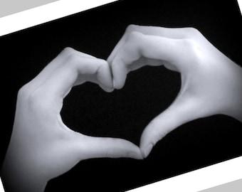 HEART HANDS Print - Sign Language - Valentine & Friendship Gift - LOVE