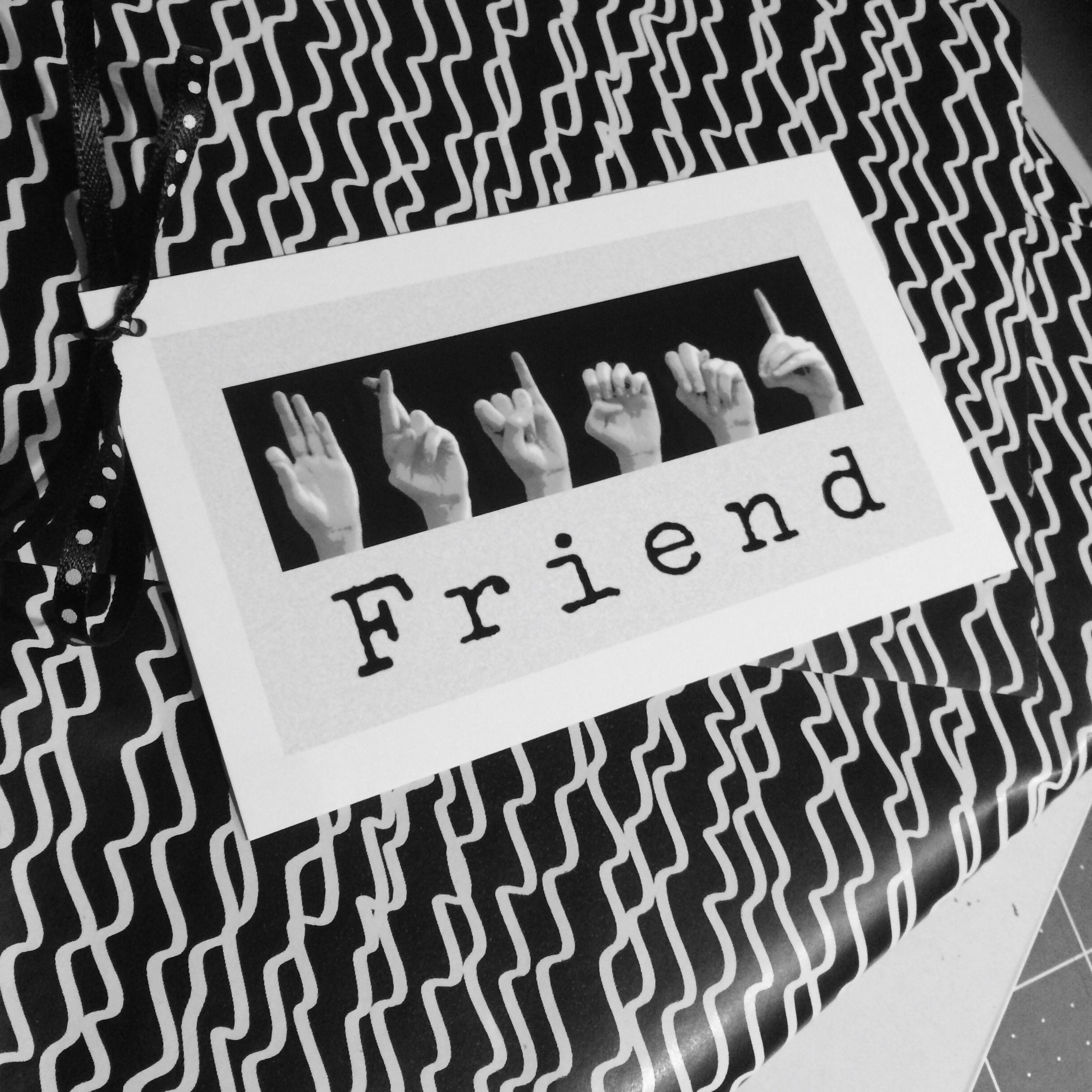 ASL FRIEND Gift Tags - American Sign Language - LOVE - Heart