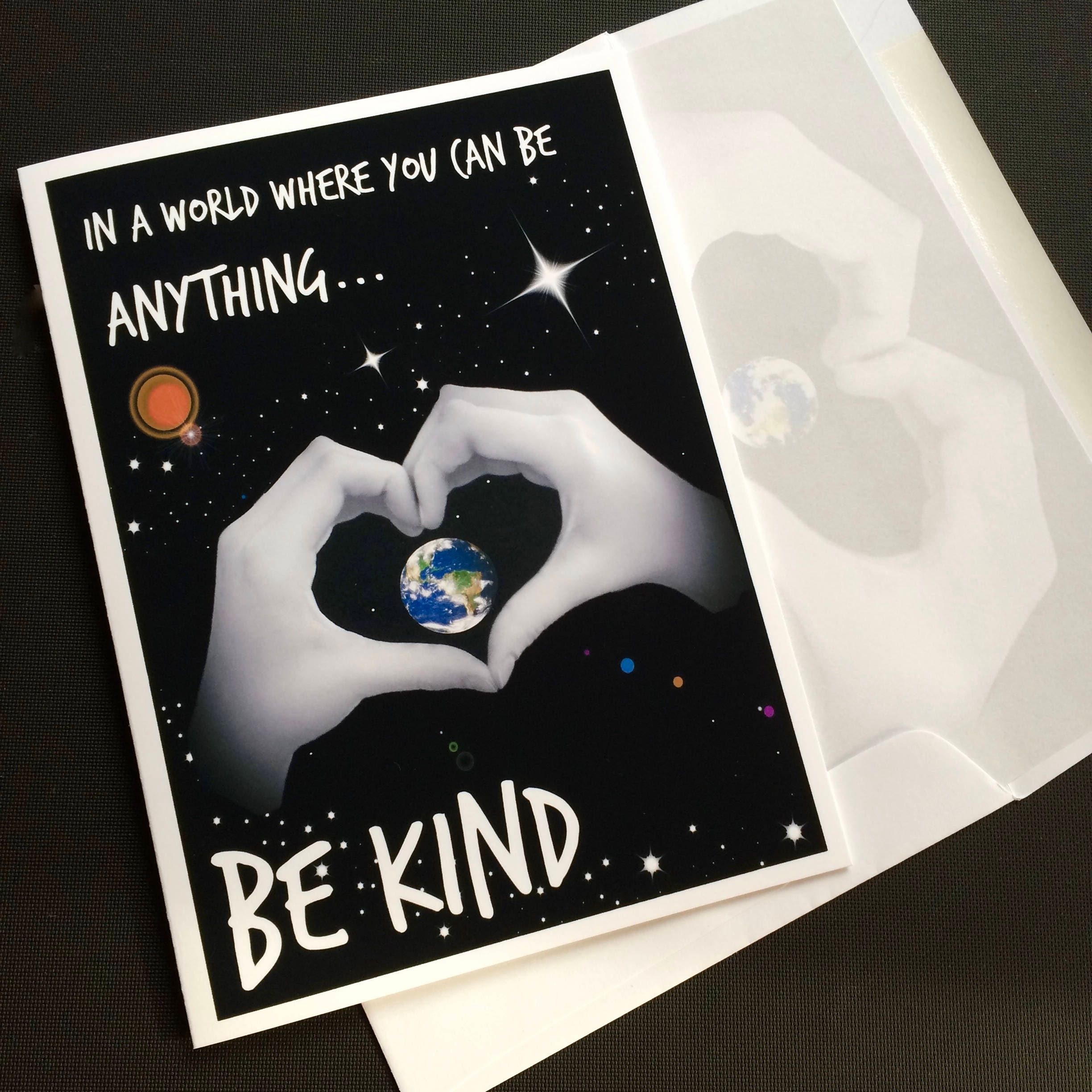 6c609e41e Be KIND 5x7 Blank Note Card - Inspirational print - Suitable for Framing