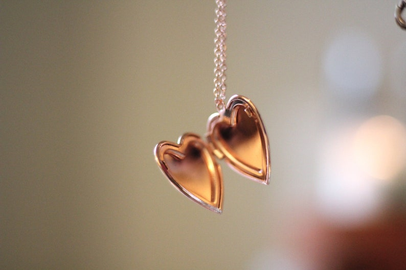 Rose Gold Heart Locket Necklace image 0
