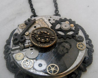 Victorian Style Collage Pendant