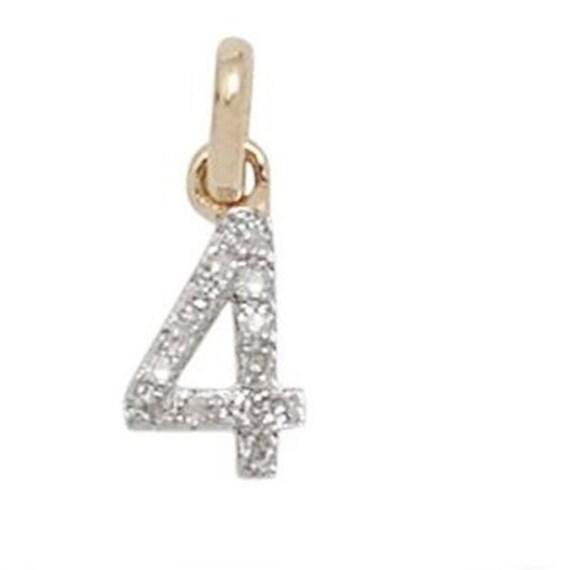 8mm Solid 14k White Gold Diamond-Cut Initial C Pendant Charm