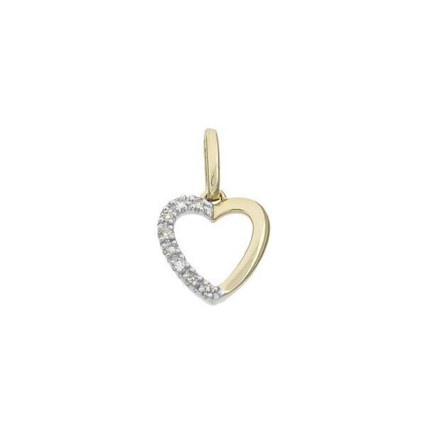 14 k or massif et diamant pendentif coeur - - coeur être mon amour! a36afd