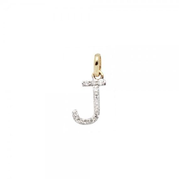 Mia Diamonds 14K White Gold Initial LetterP Charm
