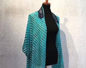 Turquoise Silk Tallit