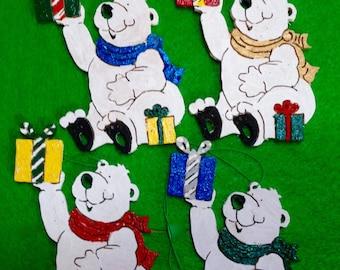 Polar Bear Christmas Ornament