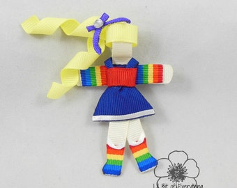 Rainbow Brite Ribbon Sculpture Clip