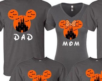 5ca01587 DISNEY Mickey's Jack Not so Scary Halloween Castle Disneyland Disneyworld  family trip vacation - matching shirts tshirts custom names