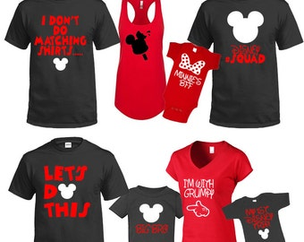 a24044952 Mickey & Minnie I Don't do Matching Let's Do Disneyland Disney World family  trip vacation - matching shirts tshirts with names