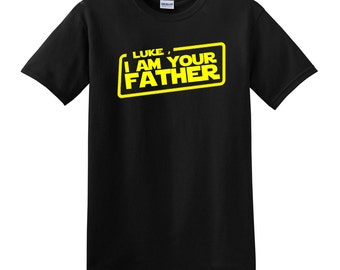 4045e54a Luke i am your Father -custom Father Tshirt Star dad tee shirt - father's  day gift
