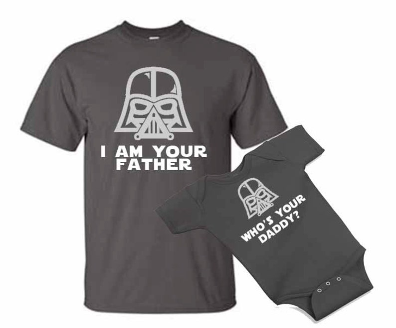 eb50cb34 I am your Father Who's your daddy Star dad and son baby | Etsy