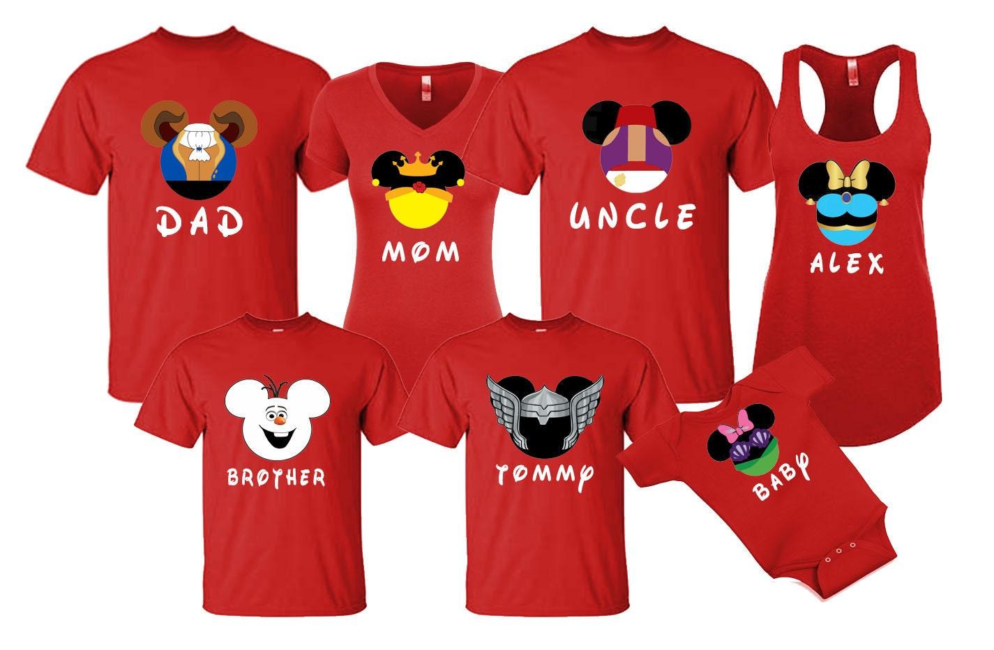 0ac4f81e8 Mickey & Minnie Princess Superhero Character Faces Disneyland | Etsy