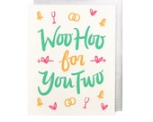 Woo Hoo for You Two Wedding Card
