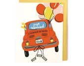 Just Married Congrats Card