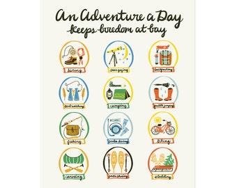 Adventure A Day Art Print 11x14