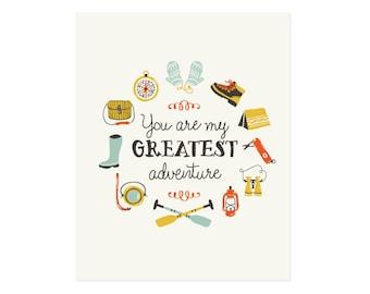 Greatest Adventure Art Print 8x10 11x14