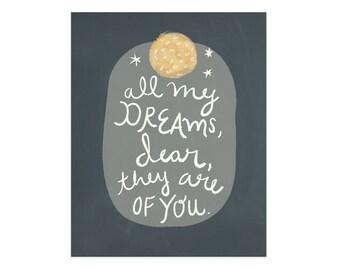 All My Dreams Art Print 8x10 11x14