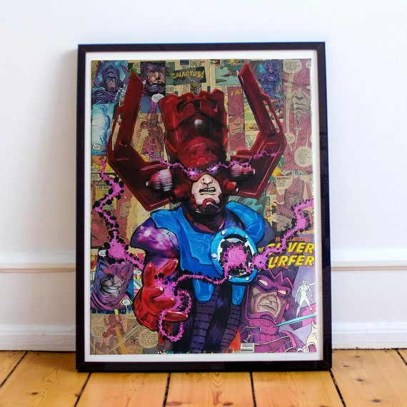 Galactus - Comic Book Collage Painting Fine Art Print
