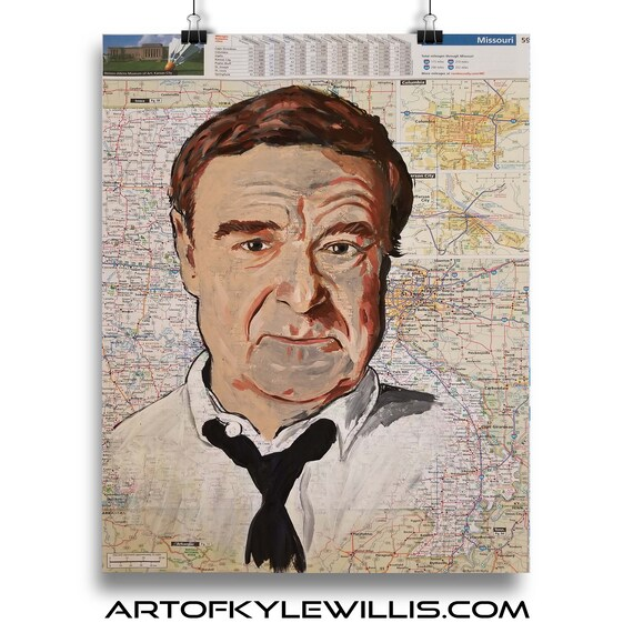 John from Missouri  Sketch Atlas marker portrait fine art print
