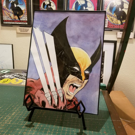 Wolverine Watercolor Painting