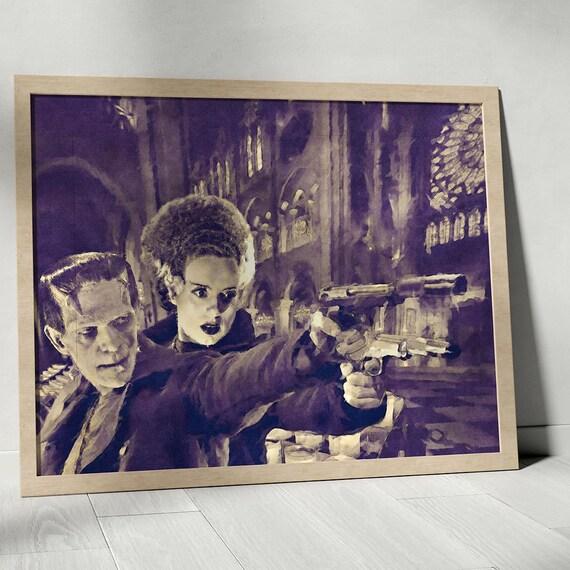 Boondock Franks - Frankenstein Horror Classics Painting Fine Art Print