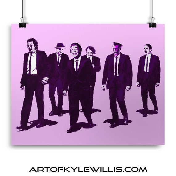 Reservoir Kings - Batman Gotham Villain Dark Knight Joaquin Phoenix. Cesar Romero, Jack Nicholson, Mark Hamil, Heath Ledger Fine Art Print