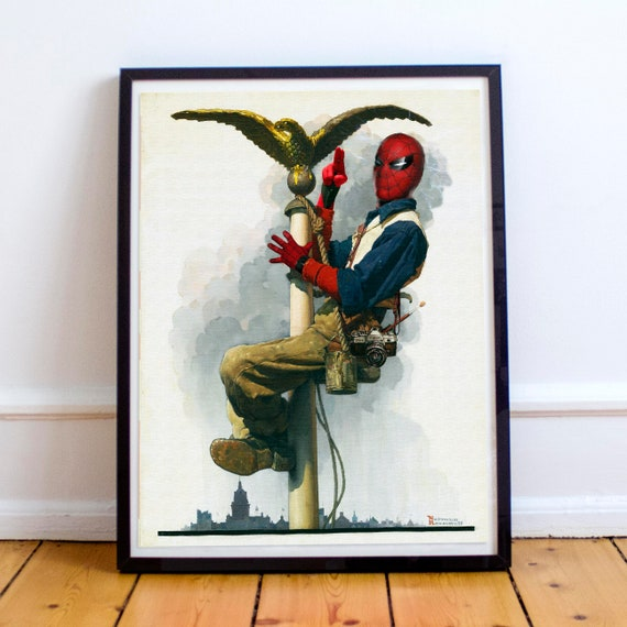 Peter Tingles - Spider-Man Reimagined Norman Rockwell Painting