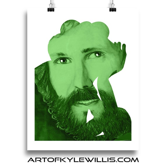 Jim Henson monochromatic watercolor portrait fine art print