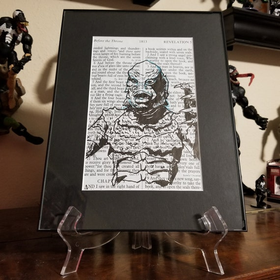 Creature from the Black Lagoon India Ink Sketch