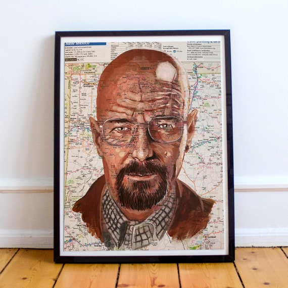 Walt from New Mexico - Heisenburg Breaking Bad Walter White Bryan Cranston Sketch Atlas Fine Art Print