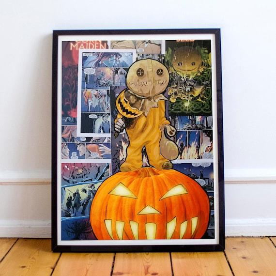Keeper of Traditions - Sam Trick r Treat Horror Classics Painting Fine Art Print