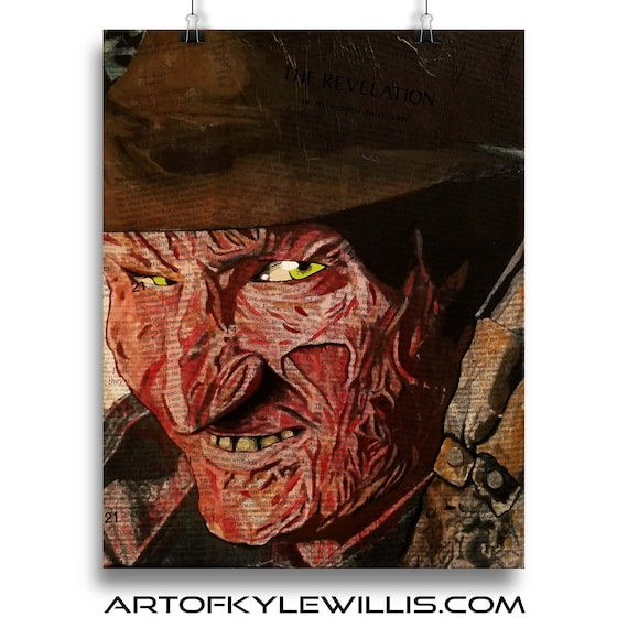 Freddy - Nightmare Horror Classics Painting Fine Art Print