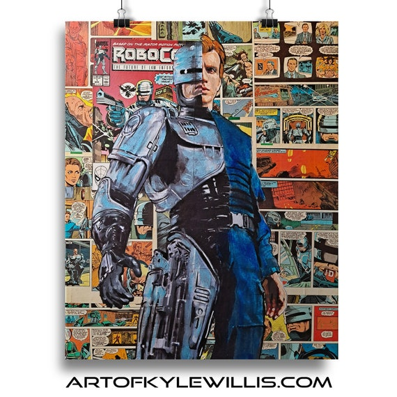Alex Murphy/Robocop Collage - Fine  Art Print