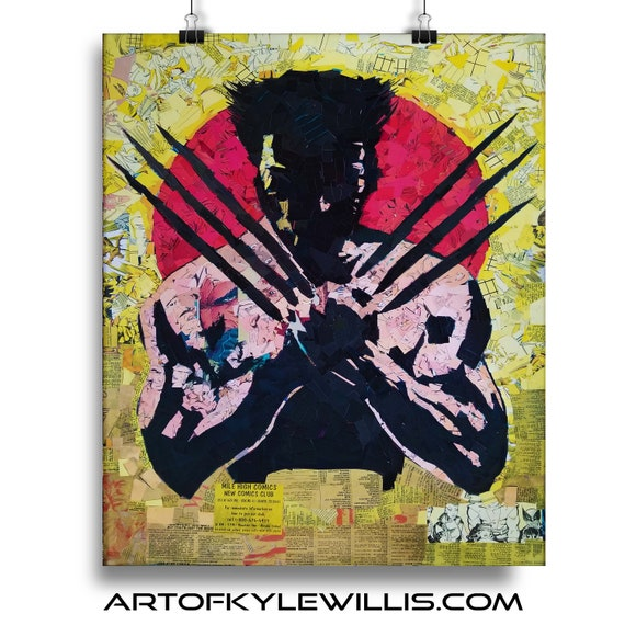 Logan - Wolverine Mosaic Collage Fine Art Print X-Men Old Man Logan