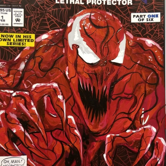Venom: Lethal Protector Mexican Edition with Carnage Acrylic Remarks