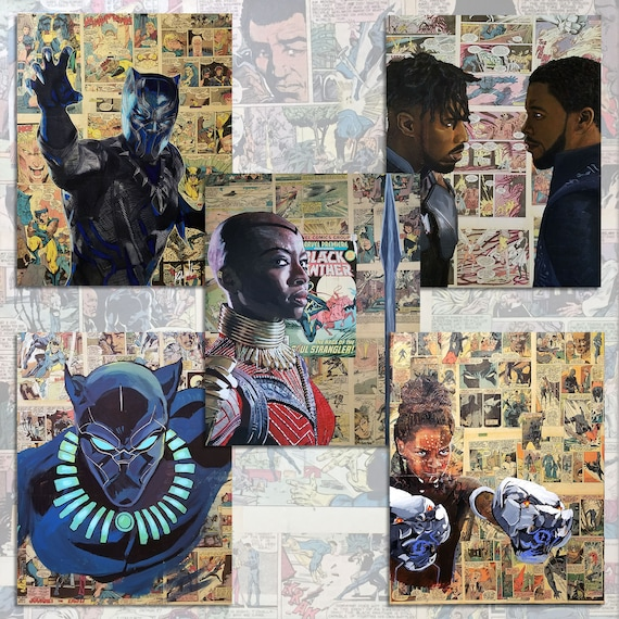 Black Panther 11x14 Print Set