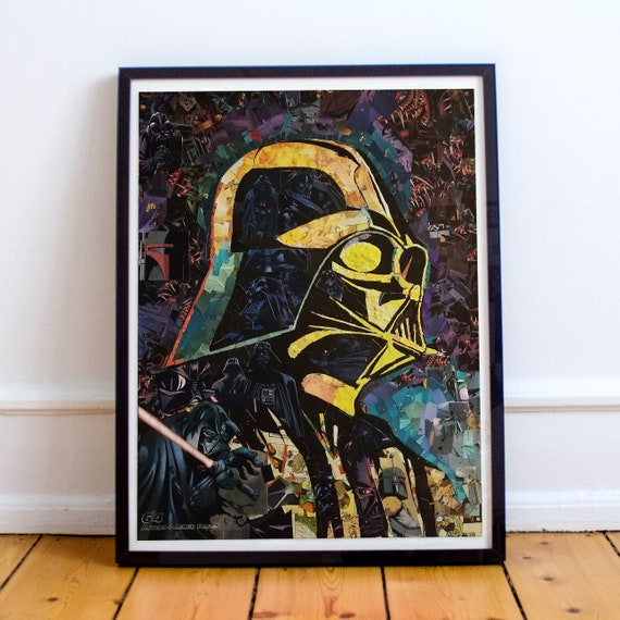 Darth Vader - STAR WARS Sith Lord Mosaic Collage Fine Art Print