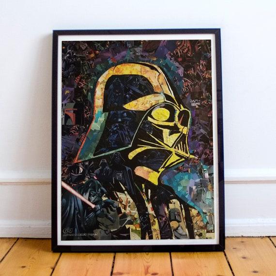 Darth Vader - STAR WARS Sith Lord Mosaic Collage Fine Art Print