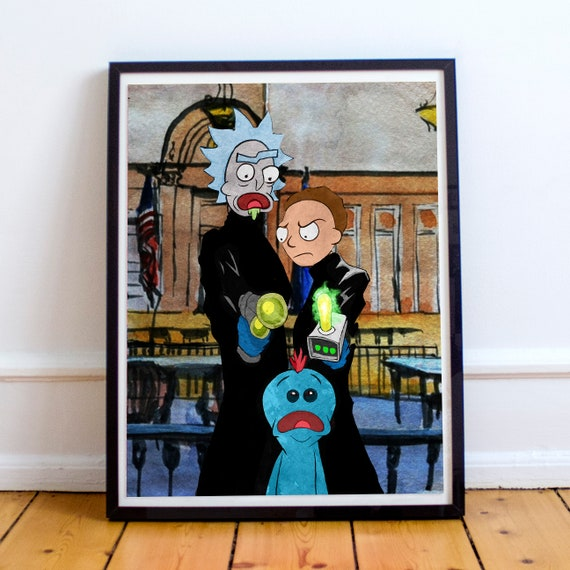 For Thee, my Lord, for Thee - Rick and Morty Boondock Saints Fine Art Print