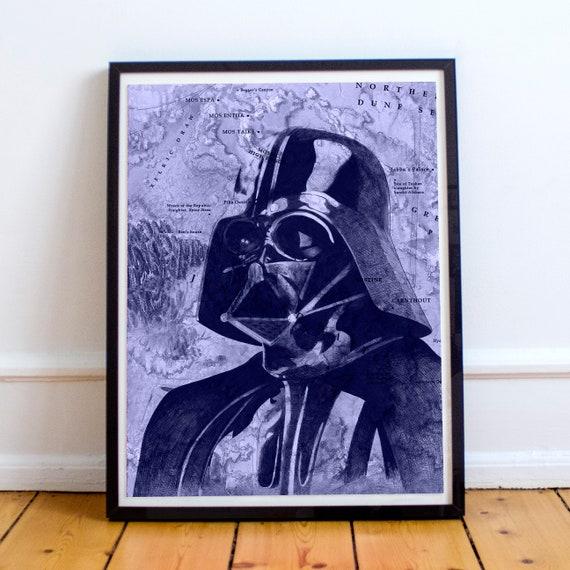 Darth Vader - STAR WARS Sith Lord Ballpoint Pen Fine Art Print