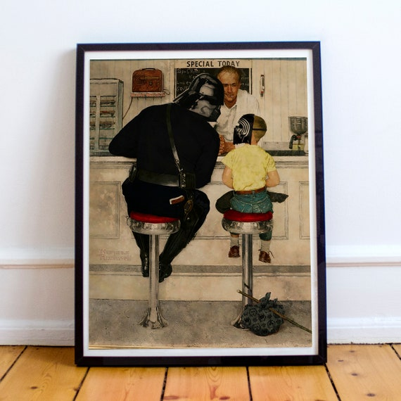 Darth Vader & Kylo Ren - STAR WARS Norman Rockwell Fine Art Print