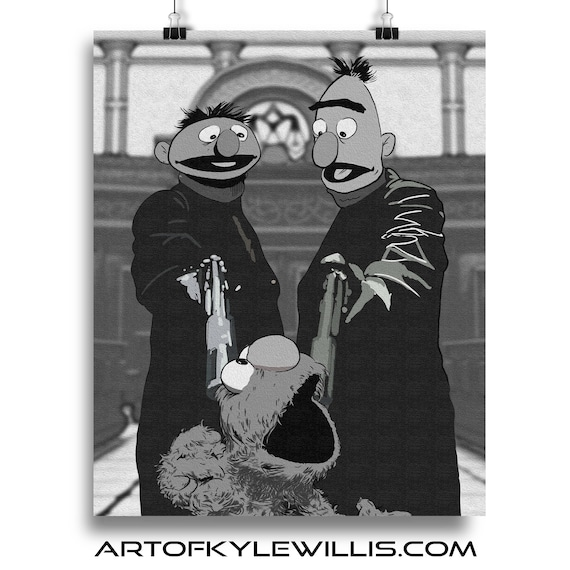 Muppets Boondock Saints Mash Up Fine Art Print